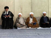 مراسم یادبود جانباختگان فاجعه منا در حسینه امام خمینی